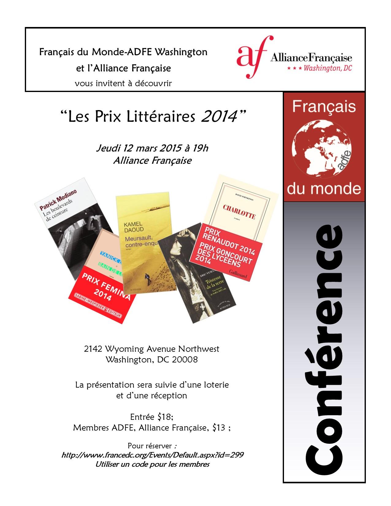 Prix Littéraires 2014