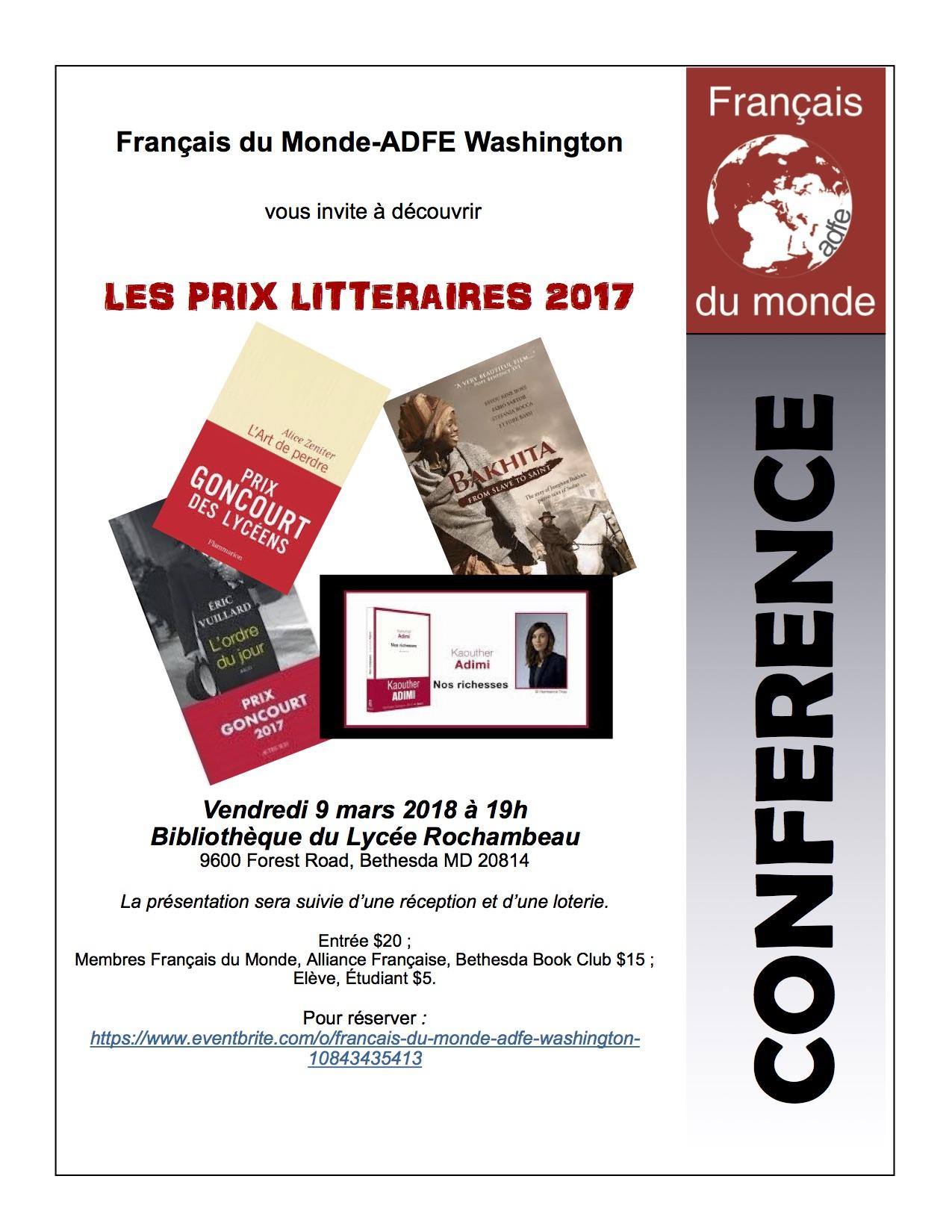 Prix Littéraires 2017